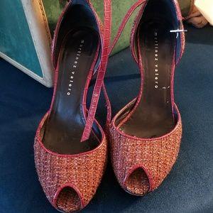 Vintage style tweed heels